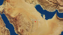 Riyadh - Saudi Arabia Zoom In From Space CG動画素材
