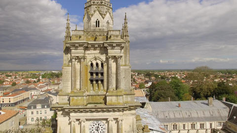 Notre Dame Cathedral of the Assumption of Luzon view drone Footage