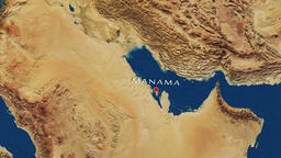 Manama - Bahrain Zoom In From Space Animation