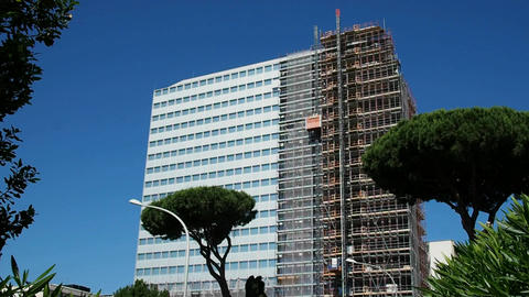 Unicredit Palace in recladding Footage