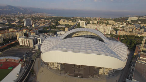 New Stade Velodrome, seen by drone Live Action