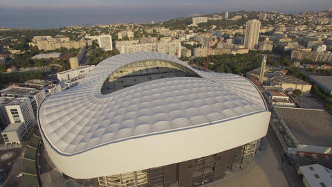 New Stade Velodrome, seen by drone Footage