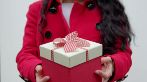 A close-up giving a gift Footage
