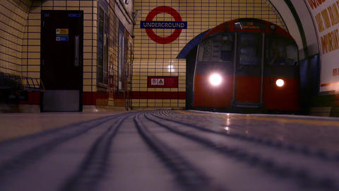 Underground Train in London Live Action