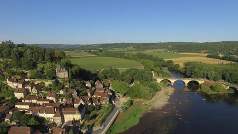 Limeuil, one of the most beautiful villages in France seen by drone Live Action