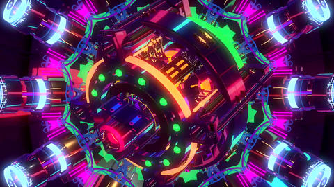 Kaleidoscope Rainbow Motion Background Animation