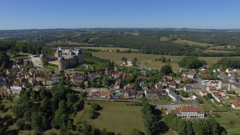 Hautefort was seen by drone Footage