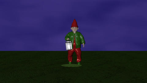 Lantern dwarf CG動画素材