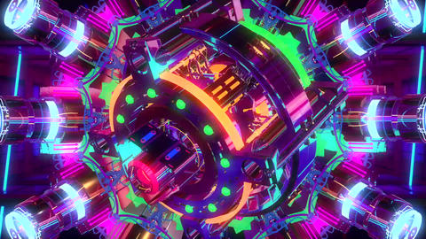 VJ Cosmic Multicolor Abstract Animation