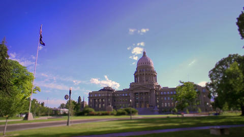 Idaho capitol building time lapse Live Action