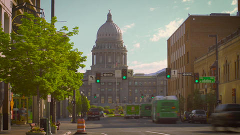 Boise downtown time lapse with capitol building Archivo