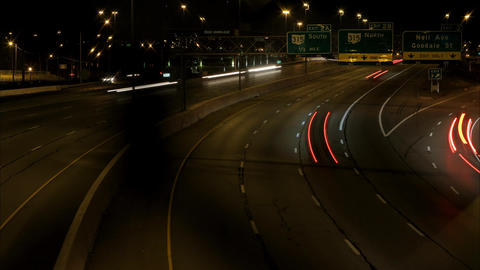 Columbus Interstate viaduct timelapse Live Action