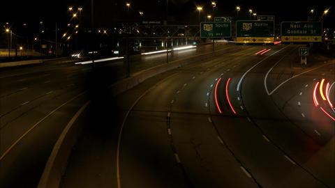 Columbus Interstate viaduct timelapse ビデオ