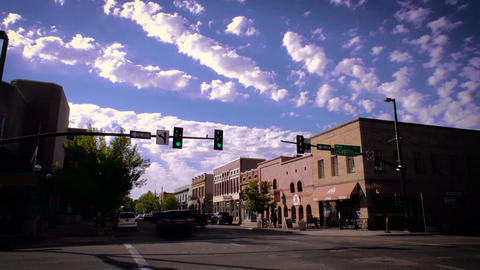 Downtown wide up street time lapse Footage