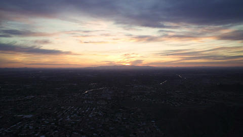 Sunset over Phoenix Time Lapse Footage