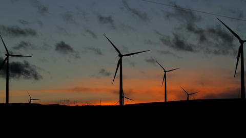 Wind Farms At Sunset 2