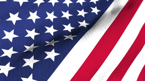US flag Close-up Animation