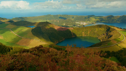 Sao Miguel, The Azores, Portugal Footage
