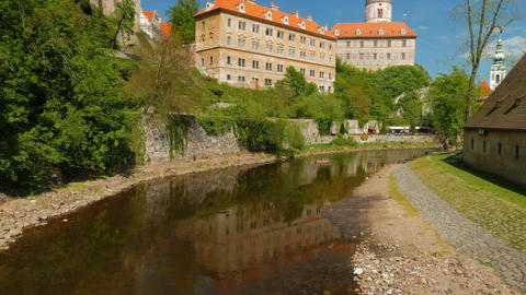 Cesky Krumlov in Czech Republic, Czechia Footage