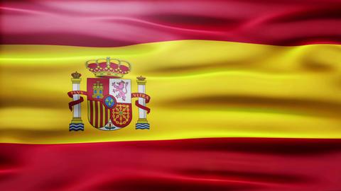 Spain Flag CG動画素材