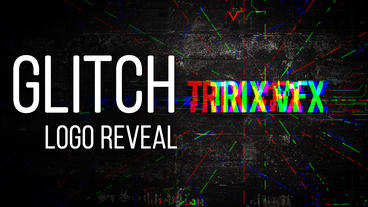 Glitch Logo Reveal After Effects Template