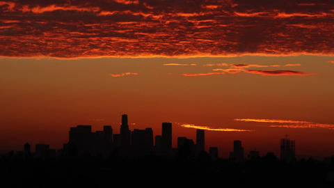 Los Angeles Sunrise Time Lapse Footage