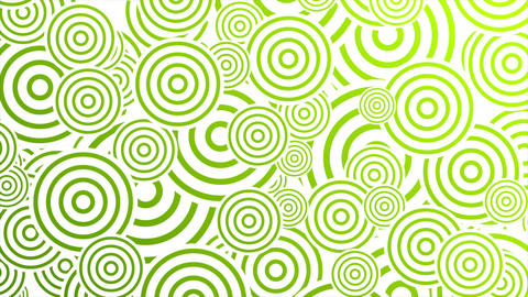 Bright green retro circles abstract motion design Animation