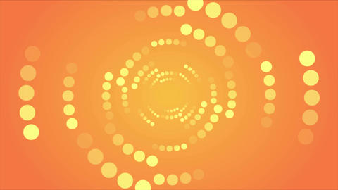 Abstract orange retro shiny circles video animation Animation