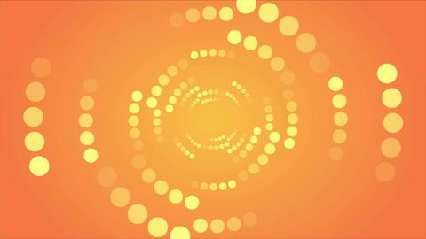 Abstract orange retro shiny circles video animation Animation