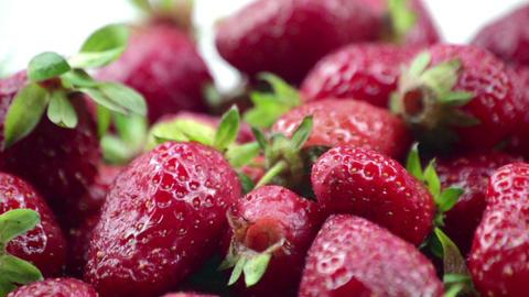 Fresh, ripe, juicy strawberries Footage