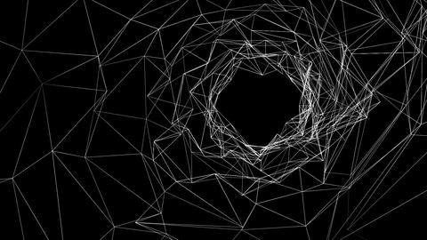 animation - Abstract geometric polygonal structure Animation