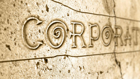 word corporate on wall with egyptian alphabet Animation