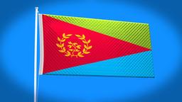 the national flag of Eritrea CG動画