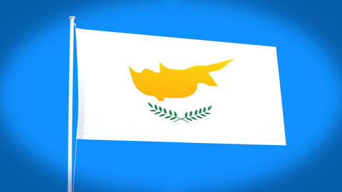 the national flag of Cyprus Animation