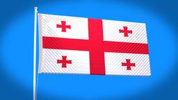 the national flag of Georgia CG動画