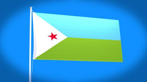 the national flag of Djibouti CG動画