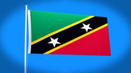 the national flag of Saint Christopher Animation