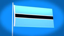 the national flag of Botswana CG動画