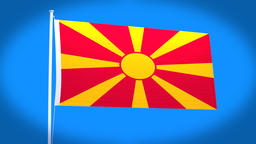 the national flag of Macedonia Animation