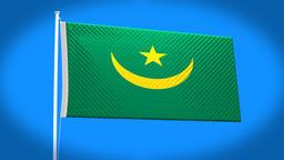 the national flag of Mauritania CG動画