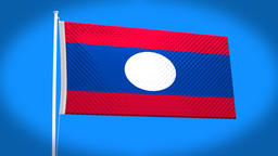 the national flag of Laos Animation