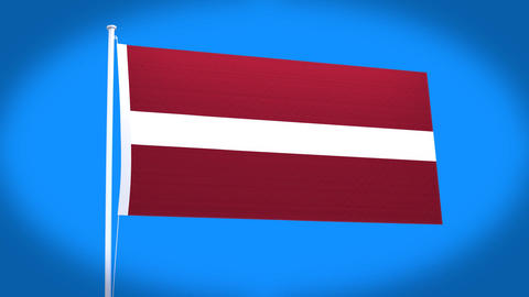 the national flag of Latvia Animation