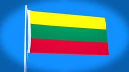 the national flag of Lithuania Animation