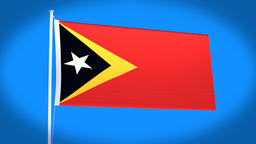 the national flag of East Timor Animation