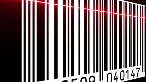 animation - Reading a bar code with red beam Animation