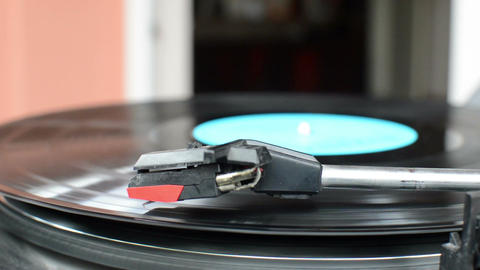 Vinyl record rotating Footage