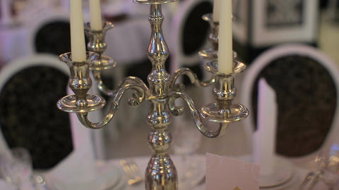 Candlestick decorations for wedding ceremony ビデオ