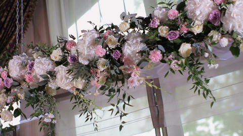 decoration with flowers for wedding ceremony Live Action