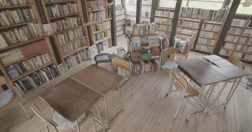 Landscape in the library Footage