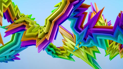 Colorful graffity style 3D shape Animation